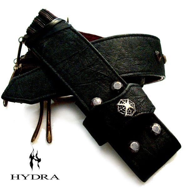 HYDRA/ヒドラ 「受注生産品」 HBT007SV 牛革&ジッパー ベルト(シルバー)【ギフトOK】【smtb-k】