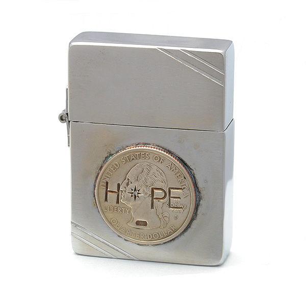 amp japan/アンプジャパン amp×Zippo HOPE ジッポー(1935年復刻モデル仕様) 12ALD-401 【ギフトOK】【smtb-k】