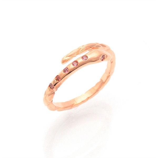 KENBLOOD ケンブラッド ヘビ フリーリング 指輪 ジルコニア ピンクゴールド KR-258PK-CZ【ギフトOK】【smtb-k】