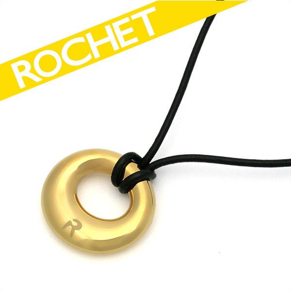 ROCHET/ロシェ ステンレス ロゴ ネックレス ゴールドコーティング レディース FP00966【ギフトOK】【smtb-k】