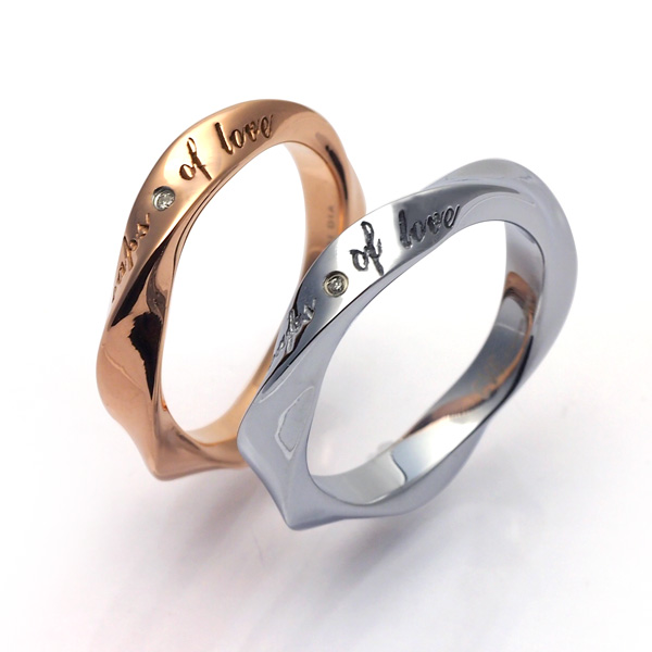 EVE/イヴ ダイヤモンドペアリング/メッセージ/サージカルステンレス GRSD73JA-pair【ギフトOK】【smtb-k】