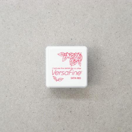 Versa Fine(バーサファイン) インクパッドS Satin Red(サテンレッド)【スタンプ台 インクパッド スタンプパッド お名前スタンプ メール便可】【赤色】