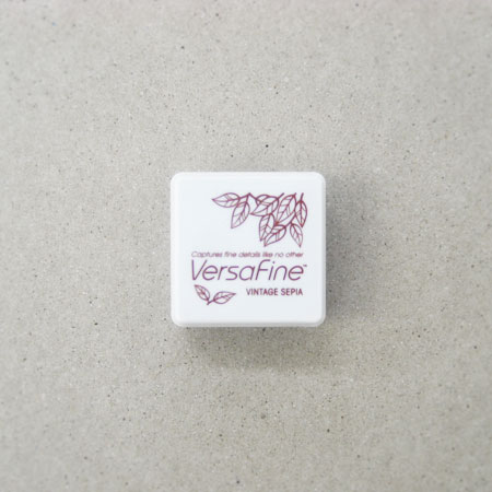 Versa Fine(バーサファイン) インクパッドS Vintage Sepia(ビンテージセピア)【スタンプ台 インクパッド スタンプパッド お名前スタンプ メール便可】【セピア色 薄茶色】