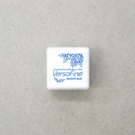 Versa Fine(バーサファイン) インクパッドS Majestic Blue(マジェスティックブル-)【スタンプ台 インクパッド スタンプパッド お名前スタンプ メール便可】【青色】