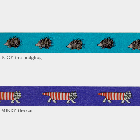 Mt × Risa Larson masking tape MIKEY the cat IGGY the hedgehog