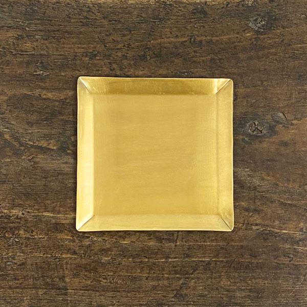 fog linen work フォグリネンワーク ブラスプレート 正方形 真鍮 アンティーク風 オープニング 大放出セール 毎日激安特売で 営業中です アクセサリートレイ ディスプレイ キッチン