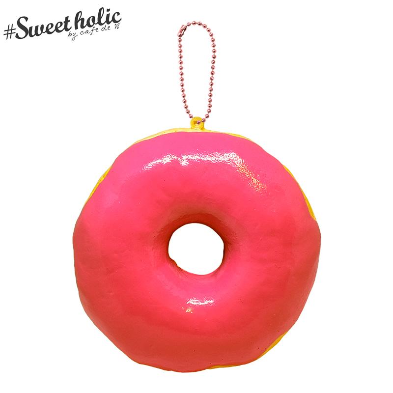 Cafe ランキング総合1位 de N sweet-holic ジャンボドーナツ フランボワーズ 格安 価格でご提供いたします スクイーズ あまい香り付き