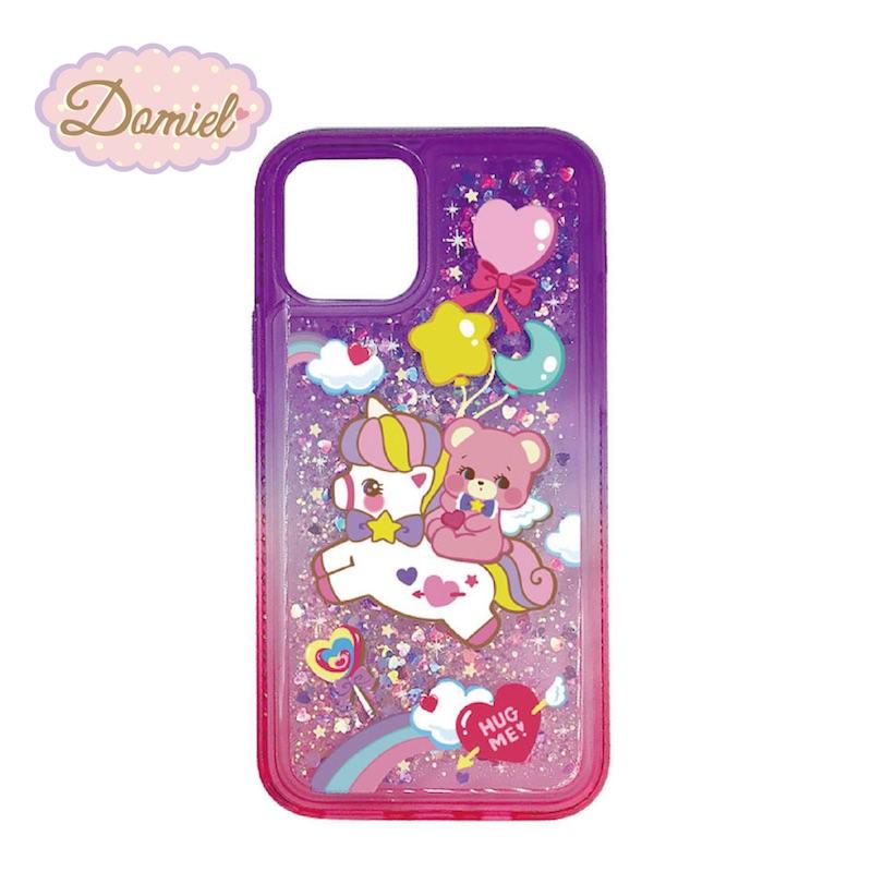 Domiel HUG ME キラキラiPhoneケース 高価値 11 Pro Max ユニコーンベア 国内送料無料