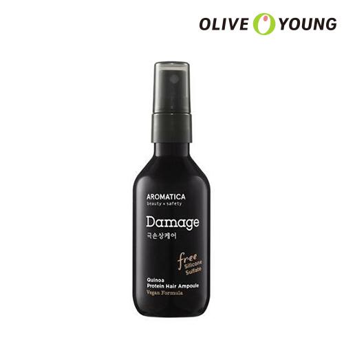 OLIVEYOUNG公式 AROMATICA 現金特価 アロマティカキヌアプロテインヘアアンプル 100ml Quinoa Protein Hair Ampoule 頭皮ケア ダメージ髪の毛ケア ヘア栄養 人気の製品 韓国コスメ 海外直送 ヘアケア オリーブヤング公式