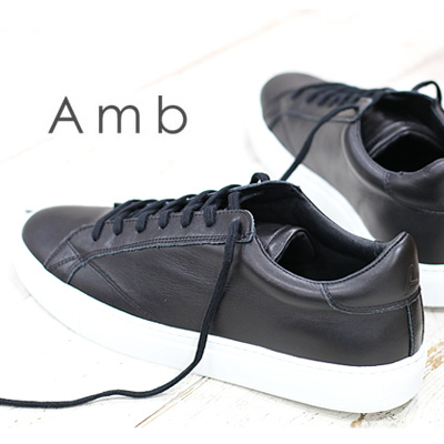 2/14新作 【あす楽】【 正規取扱店 】Amb ( Ambassadors ) スニーカー 9838 ARCHY BLACK SOLE WHITE エーエムビー ( アンバサダーズ ) sneaker メンズ ブラック 靴