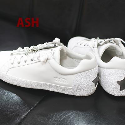【 日本正規取扱店 】 ASH sneaker スニーカー レザー Nirvana White/Dark silver アッシュ 靴 レディース shoes