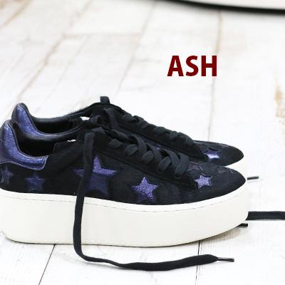 【 セール sale 】 【 日本正規取扱店 】 ASH sneaker スニーカー レザー Cult Star Black/Midnight/Black アッシュ 靴 レディース shoes