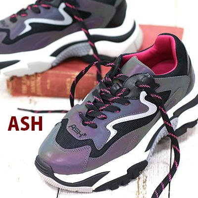 2/6新作 【期間限定特別価格】【あす楽】 【 日本正規取扱店 】 ASH sneaker スニーカー Addict Rainbow/Silver/Black/Black アッシュ レザー 靴 レディース shoes