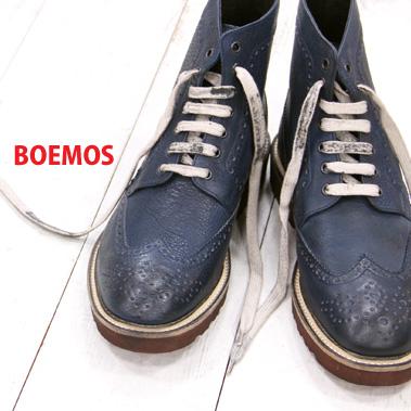 【 セール sale 】 【あす楽】正規品 ボエモス メンズ 靴 ヴィンテージ加工 BOEMOS ブーツ ウィングチップ boots 【made in ITALY】