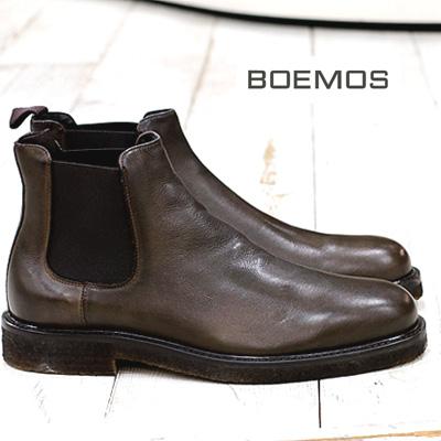 送料無料 離島 沖縄県を除く BOEMOS ブーツ ボエモス 送料無料/新品 メンズ 安い セール sale あす楽 ブラウン made 4578 正規品 boots mens サイドゴアブーツ ITALY SIGARO in