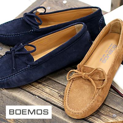 2/8再入荷 【あす楽】BOEMOS レディース 靴 6049 ボエモス ドライビングシューズ モカシン スエード スリッポン