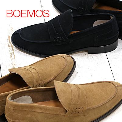 正規品 ボエモス メンズ スリッポン 靴 BOEMOS スエード 【made in ITALY】