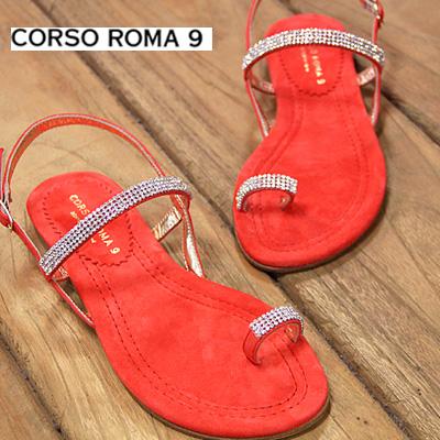 【あす楽】 【 セール sale 】 CORSO ROMA 9 1023 PELLE コルソローマ サンダル レディース ぺたんこ スエード 靴 【 FABIO RUSCONI ファビオ ルスコーニ に並ぶ人気 】