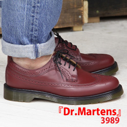 【あす楽】 【 ポイント10倍 】 正規品 Dr.Martens 3989 CHERRY RED 13844600 ドクターマーチン ウイングチップ シューズ メンズ 靴 【マーチン 3ホール 8ホール に並ぶ人気シリーズ】