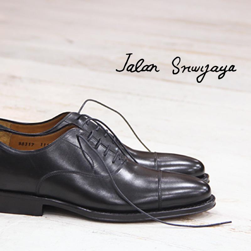 【あす楽】 【 ケア品のオマケ付 】【 日本正規取扱店 】 JALAN SRIWIJAYA 98317 BLACK CALF ブラック カーフ ジャラン スリウァヤ ストレートチップ ドレスシューズ 靴 レザーソール