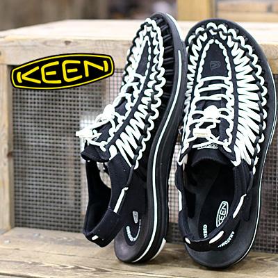 6/15新作入荷 KEEN サンダル sandal UNEEK 1019281(BLACK/WHITE) キーン ユニーク メンズ mens