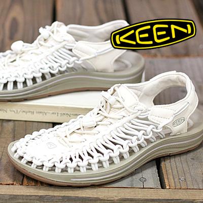 3/16新作 【あす楽】 KEEN サンダル sandal UNEEK 1018698(WHITE CAP/CORNSTALK)  キーン ユニーク レディース ladies