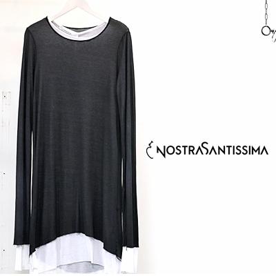 【セール SALE】NostraSantissima MALVITO NERO ノストラサンティッシマ カットソー 長袖 レディース ladies