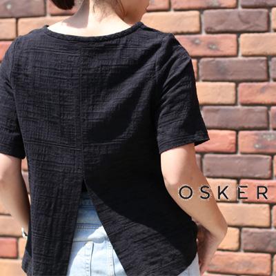 【期間限定特別価格】 OSKER OSK-SS17-D3-12B BLACK オスカー ブラウス レディース ladies