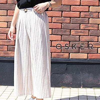 【期間限定特別価格】 OSKER OSK-SP18-14A BEIGE オスカー パンツ ワイド レディース ladies