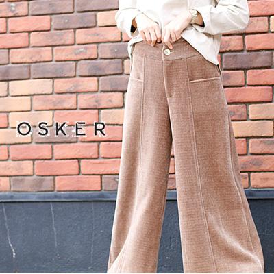送料無料 離島 沖縄県を除く 2020年秋冬新作 OSKER オスカー 激安超特価 レディース セール あす楽 Brown OSK-W20-22A 使い勝手の良い 17新作 12 ladies パンツ sale