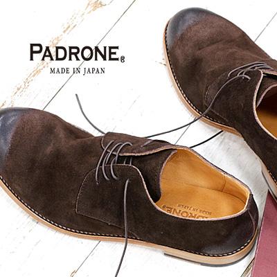 【ポイント10倍+キャッシュレス5%還元 ~6/30まで】 【あす楽】【 正規取扱店 】 PADRONE 靴 DERBY PLAIN TOE SHOES JACK PU7358-2049-19D D.BROWN ダークブラウン パドローネ メンズ
