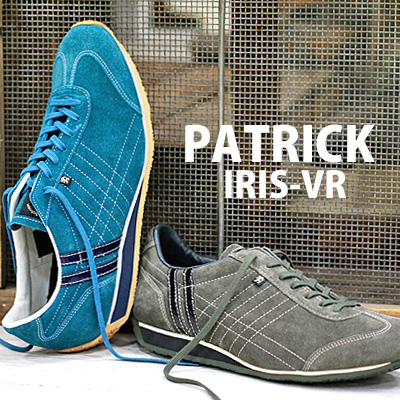 【 spot カラー 】【 正規取扱店 】 PATRICK sneaker IRIS-VR アイリス ベロア BU/GN(528022) D.KKI(528028) パトリック スニーカー 【 パミール シュリー ネバダ に並ぶ人気 】 メンズ レディース