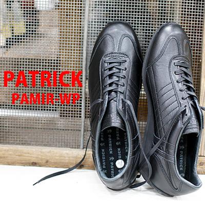 【 正規取扱店 】 PATRICK sneaker PAMIR-WP パミール ウォータープルーフ ブラック 530171 パトリック スニーカー メンズ レディース レザー 【 シュリー アイリス ネバダ に並ぶ人気】