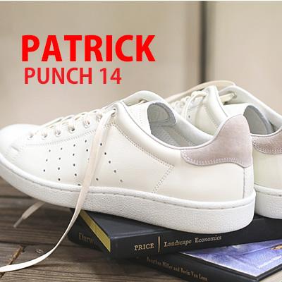 12/28新作 【あす楽】 【 正規取扱店 】【別注】 PATRICK PUNCH 14 sneaker WHTEX ホワイト 14100C パトリック パンチ スニーカー メンズ レディース 【 ケベック に並ぶ人気 】