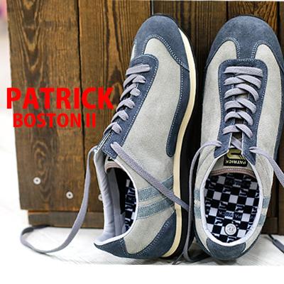 【 spot カラー 】【 正規取扱店 】 PATRICK スニーカー sneaker BOSTON2 ASH 518564 パトリック ボストン2 アッシュ スエード 【 スタジアム 、 マラソン に並ぶ人気】 メンズ レディース