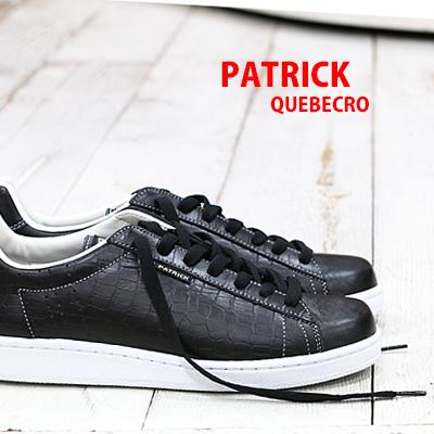 【 spot カラー 】【 正規取扱店 】 PATRICK QUEBECRO sneaker スニーカー BLK 529041 パトリック ケベック 【 パンチ 、 オーシャン に並ぶ人気】 メンズ レディース