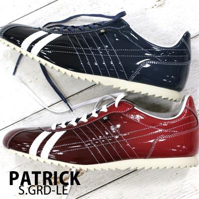 【 spot カラー 】【 正規取扱店 】 PATRICK sneaker S.GRD-LE RED(530367) NVY(530362) パトリック シュリー グラデーション レザー スニーカー メンズ 【 アイリス パミール ネバダ に並ぶ人気】
