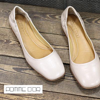 【あす楽】 POMME D'OR 1440 MET.GLOVE NERO ポモドーロ フラット パンプス ポインテッドトゥ ベージュ レディース 靴