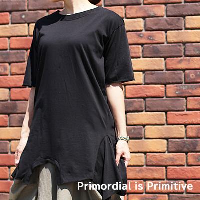 5/6新作 【期間限定特別価格】Primordial is Primitive 915 RO BLACK OFF WHITE MILITARY プリモディアル カットソー レディース ladies