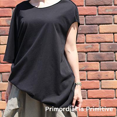 【期間限定特別価格】Primordial is Primitive 1058 CO BLACK WHITE プリモディアル カットソー レディース ladies