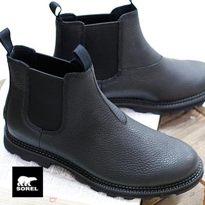 【あす楽】【正規品】 SOREL ブーツ メンズ MADSON CHELSEA WP NM3474-010 BLACK,BLACK ソレル スノーブーツ マドソンチェルシーWP MENS BOOTS