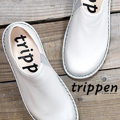 【キャッシュレス5%還元】【期間限定特別価格】 【あす楽】【 日本正規取扱店 】 trippen 靴 WON-ELK91 SLV-GY トリッペン レディース スリッポン レースアップ