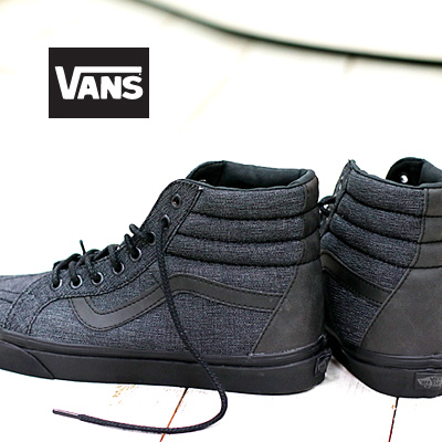 【あす楽】 VANS SK8-HI Reissue (Denim C&L) Black (VN-03CAL0E)バンズ スケートハイ リイシュー メンズ レディース スニーカー