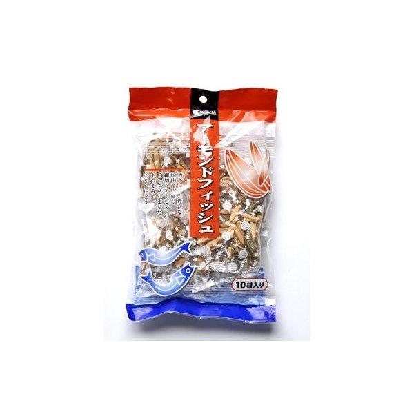 おつまみに最適 安心と信頼 アーモンドフィッシュ アウトレットセール 特集 100g 10gx10袋 便利な小分け グルメ アメリカ産アーモンド 国産小魚 小袋入り みのや