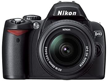 市販 中古 Nikon デジタル一眼レフカメラ 割り引き D40 レンズキット ブラック D40BLK