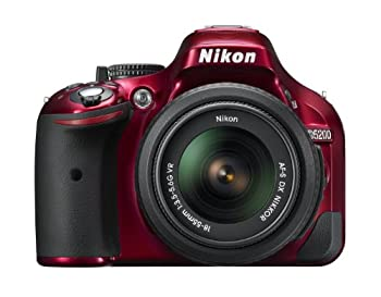 <title>中古 新発売 Nikon デジタル一眼レフカメラ D5200 レンズキット AF-S DX NIKKOR 18-55mm f 3.5-5.6G VR付属 レッド D5200LKRD</title>