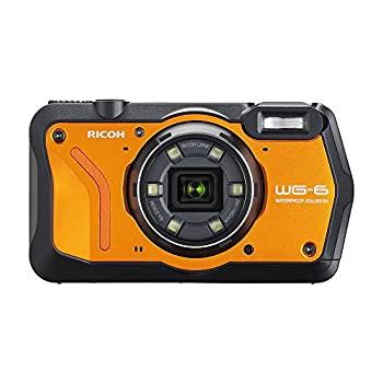 発売モデル 中古 RICOH WG-6 入手困難 オレンジ 本格防水カメラ 20メートル防水 耐衝撃 耐寒 防塵 高画質2000万画素 水中専用マーメードモード搭 高性能GPS内蔵 4K動画対応