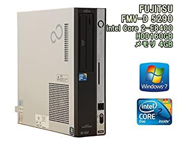 中古 初期設定済 迅速な対応で商品をお届け致します デスクトップパソコン※FD無しVer 富士通 ESPRIMO D5290 Windows7 メモリ4GB E8400 公式ストア Duo 2 3GHz HDD160GB Core