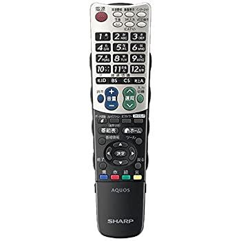市場 中古 シャープ 純正テレビ用リモコン 部品番号:0106380346 ランキング総合1位 RRMCGA939WJSA