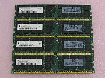 中古 8GBメモリ標準セット 2GB ブランド品 4 HP純正品 Qimonda PC2-5300P Registered 好評 667 バルク品 ECC 240Pin DIMM DDR2